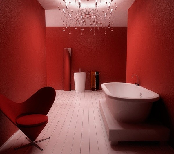 design red bathroom